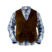 Outback Trading Vest Mens Montana Western Yokes Button Brown 2575