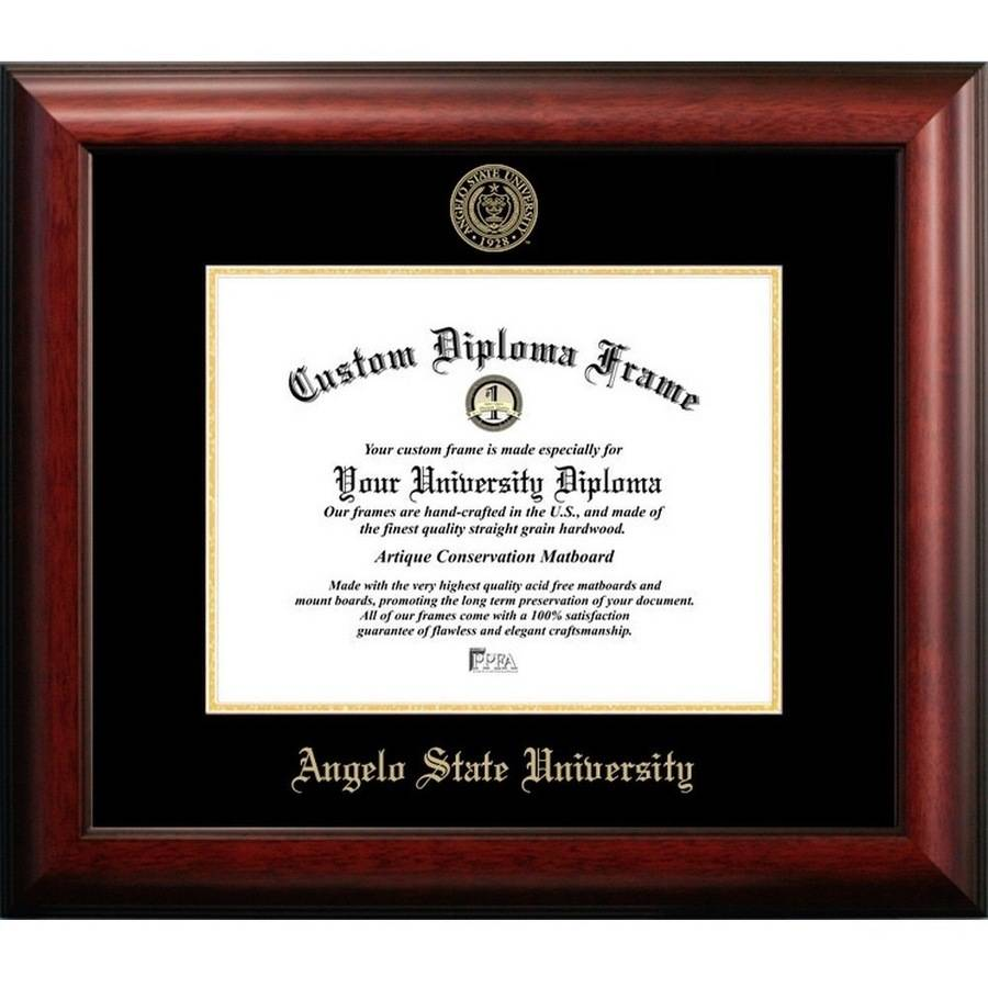 "Angelo State University 11"" x 14"" Gold Embossed Diploma Frame"