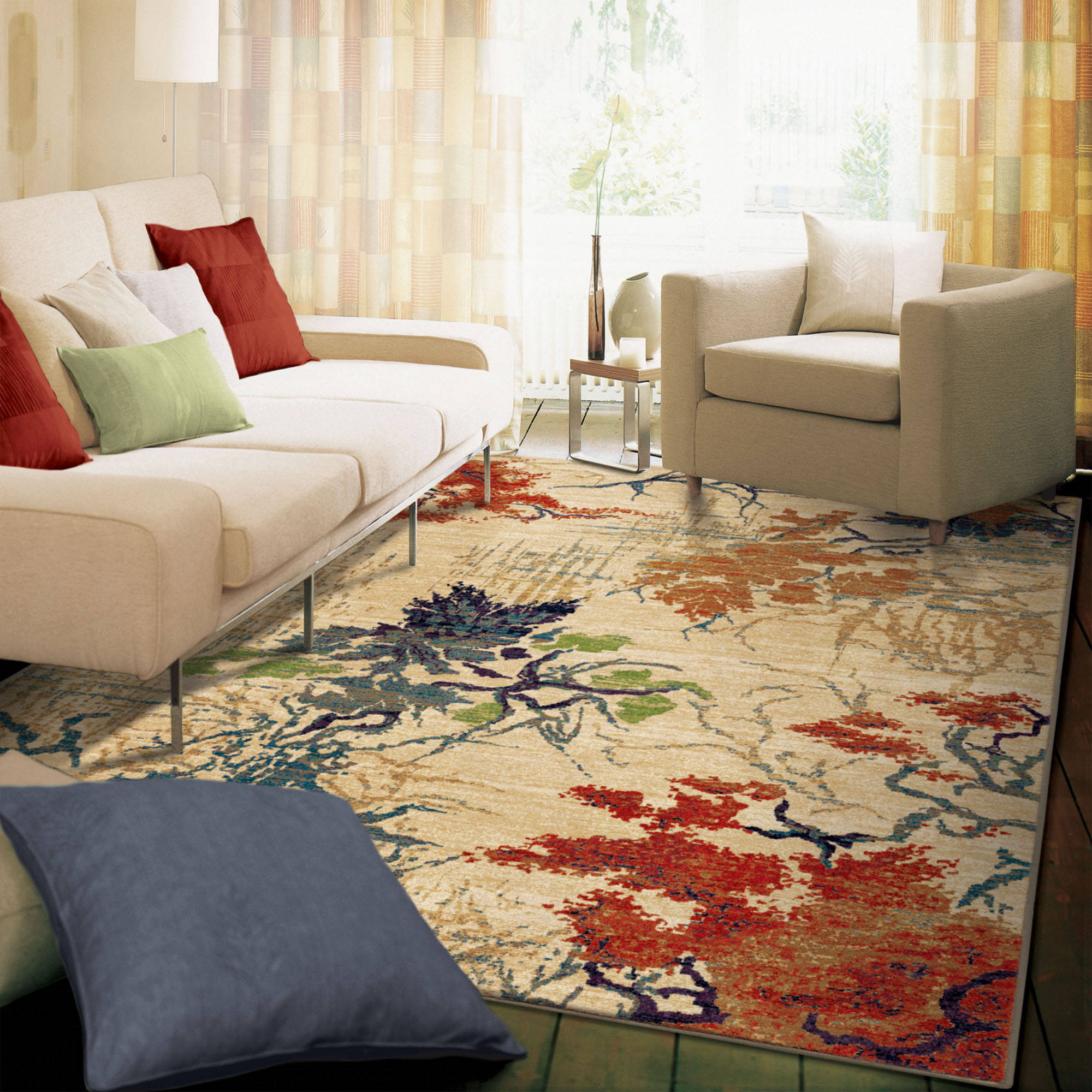 """Orian Rugs Abstract Forrest Multi Area Rug, 710"""" x 1010"""""""
