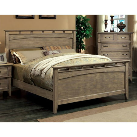 Furniture of America Ackerson California King Panel Bed in Wood ()