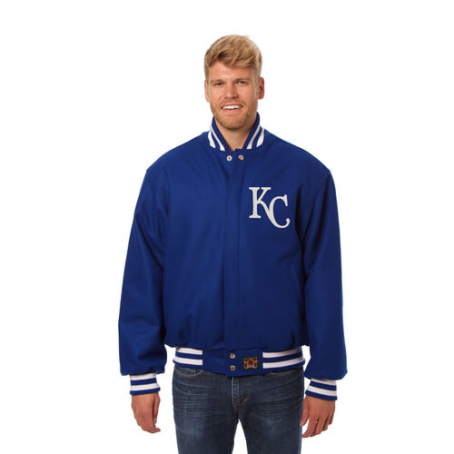 Men's JH Design Royal Kansas City Royals Team Color Wool Jacket