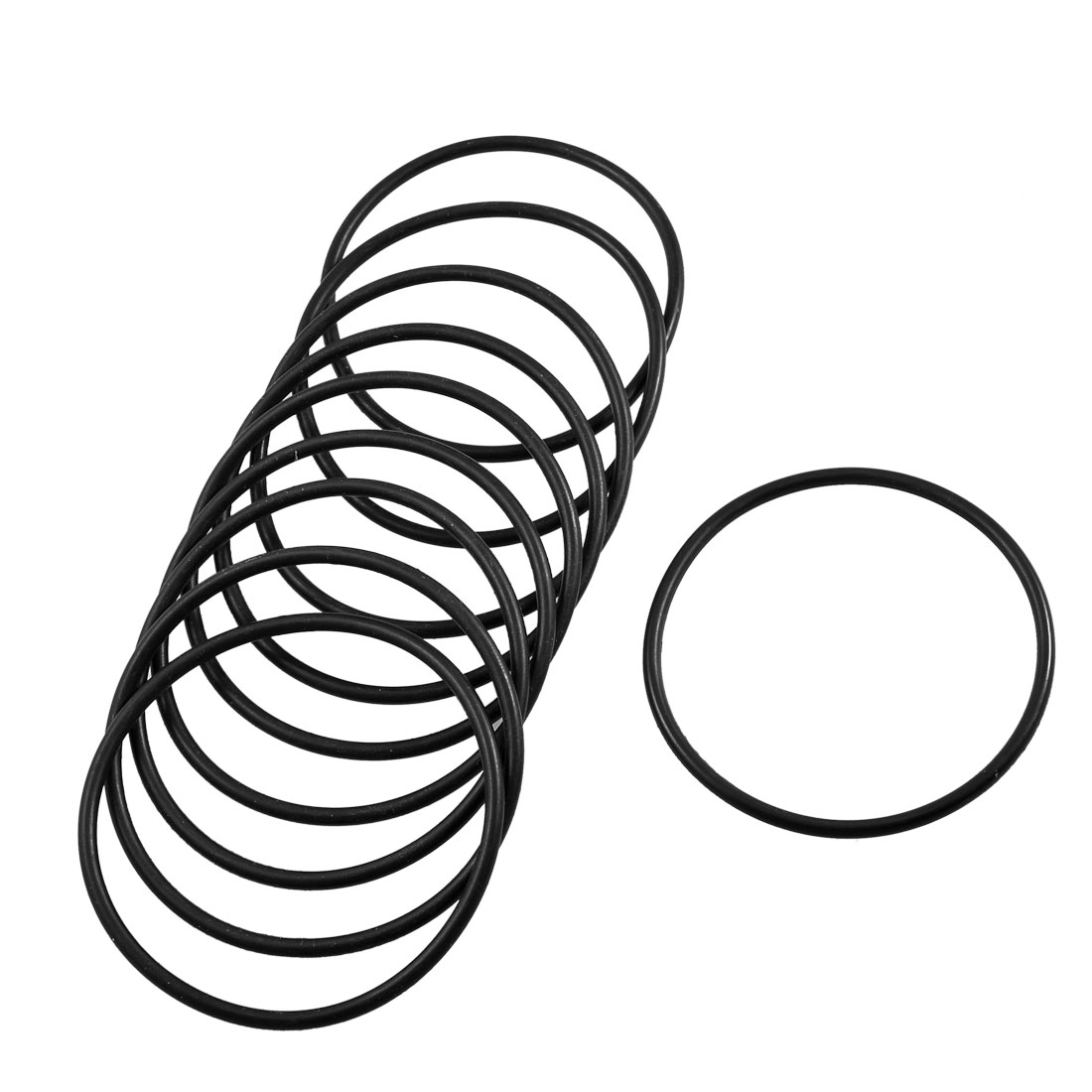 Unique Bargains 10 x 68mm External Dia Mechanical Black Rubber Oil Seal O Ring Gaskets - image 1 of 1