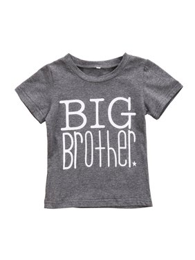 Fashion Big Brother Little Sister Kids Toddler Boys Baby Girls Cotton Tops T-shirt/Romper Clothes