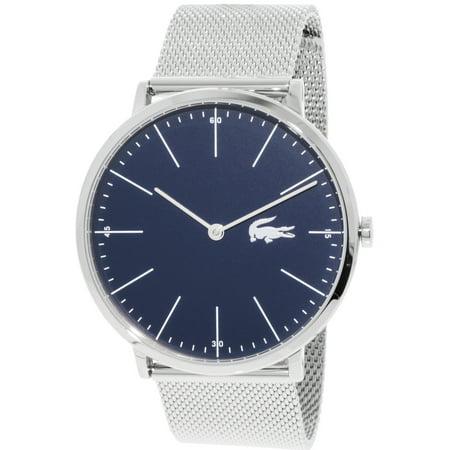 4fe21581d88 Lacoste Men s Moon 2010900 Silver Stainless-Steel Quartz Fashion Watch -  image 1 ...