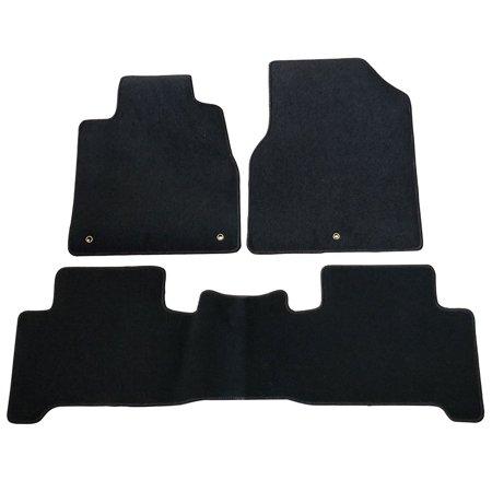 Fits 07-13 Acura MDX Black Nylon Floor Mats Carpets 3 - Acura Black Floor Mat