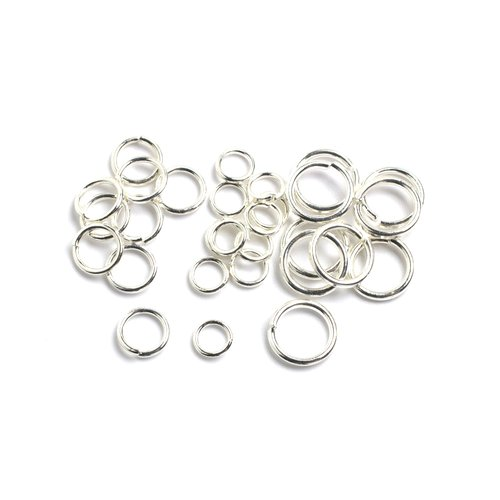 400 6mm Silver Plated Jumprings Open Jump Rings
