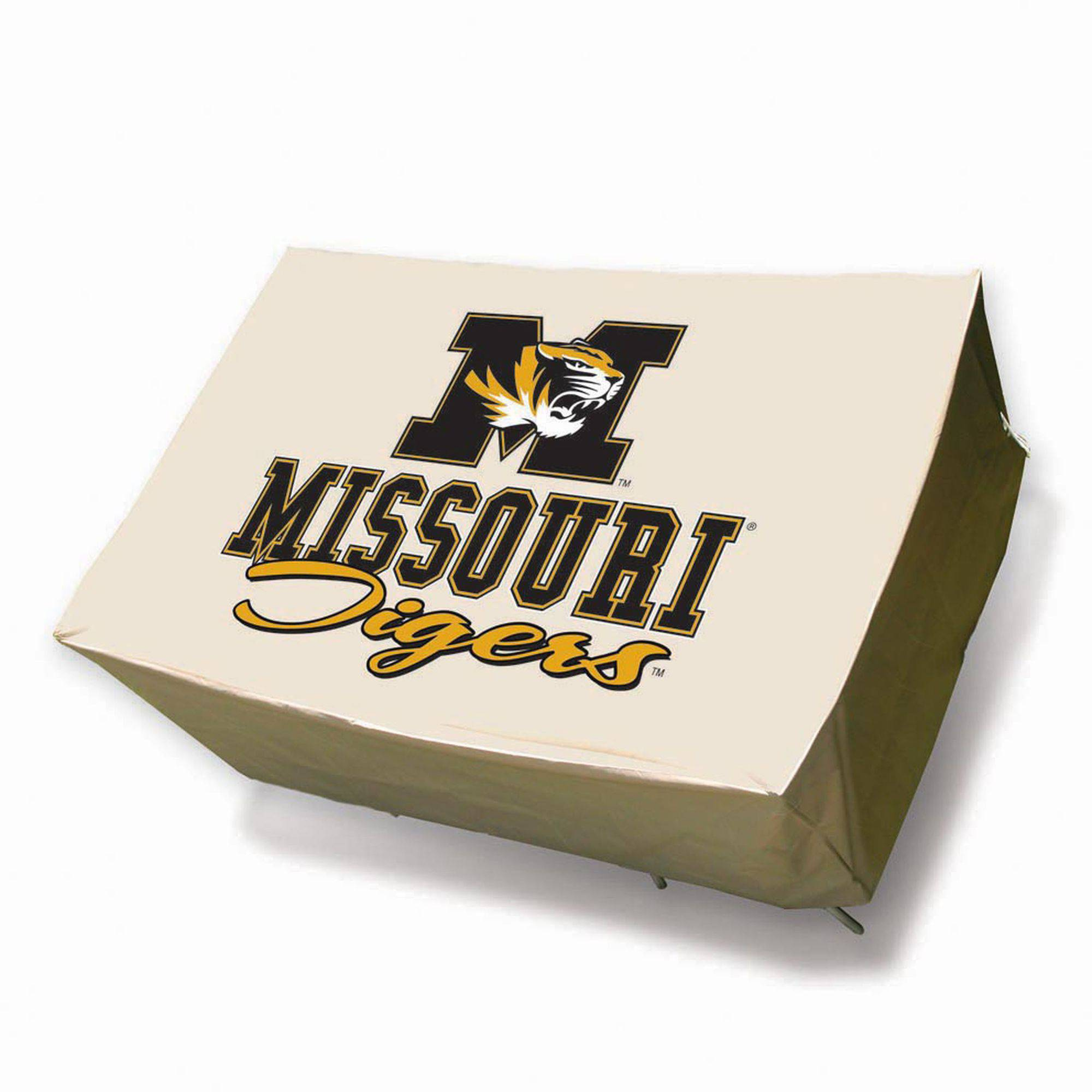 NCAA Mr. Bar-B-Q Round Patio Table Cover, University of Missouri Tigers