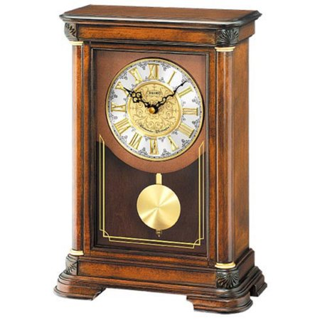Seiko Brown Alder Mantel Clock