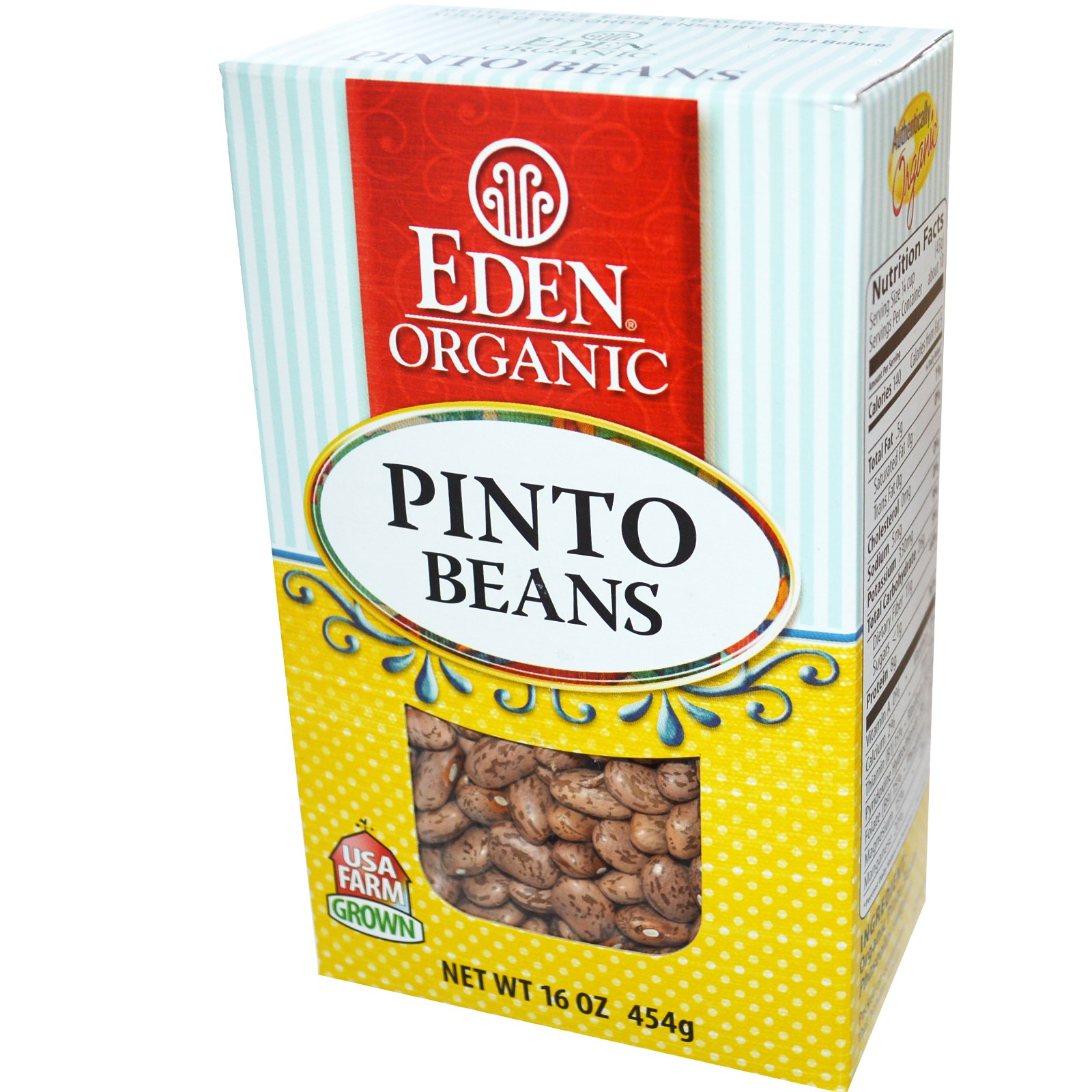 Eden Foods, Organic Pinto Beans, 16 oz (pack of 2)
