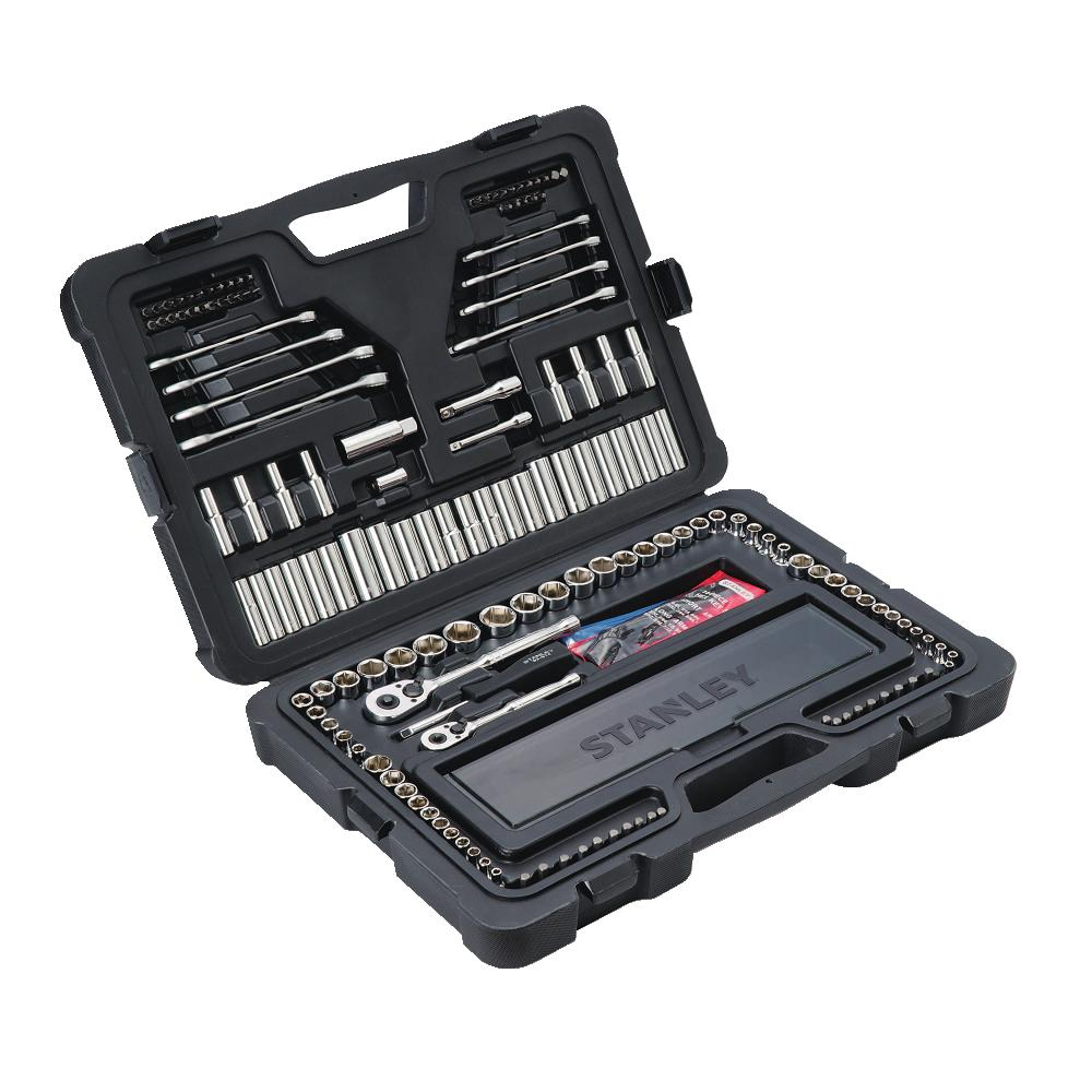 Stanley 181 Piece Mechanic's Tool set with Storage Compartment, STMT75931 by Stanley Black & Decker