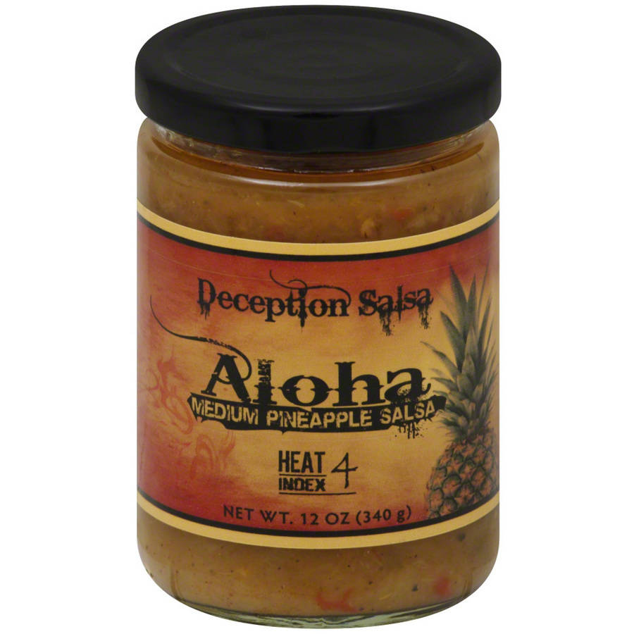 Deception Aloha Medium Pineapple Salsa, 12 oz, (Pack of 6)