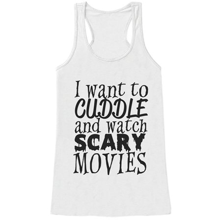 Top 20 Scary Halloween Movies (Custom Party Shop Womens Scary Movies Halloween Tank Top -)