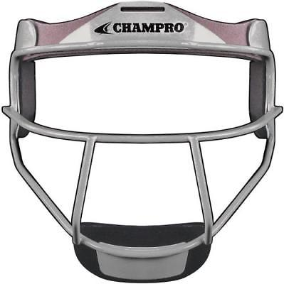 Champro Grill Softball Fielder's Facemask, ADULT, Silver