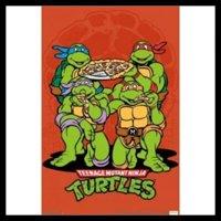 Teenage Mutant Ninja Turtles Pizza Laminated & Framed Poster (24 X 36)