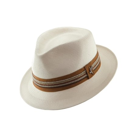 46fa7a454 Men's Shantung Salvador Pinch Front Fedora Hat