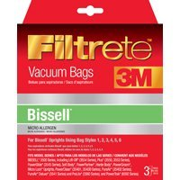 Bissell Type 1-6 Vacuum Cleaner Bags, Fits PowerForce 3520 series, PowerGlide 3545 series, Plus 3550 series, Lift-Off 3554 series, and Power Trak 6592.., By Filtrete Ship from US