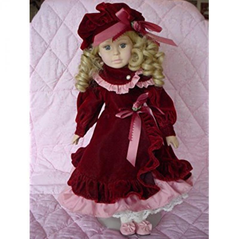 """Brass Key Reflections Collection *Aurora* 17"""" Porcelain Doll"""