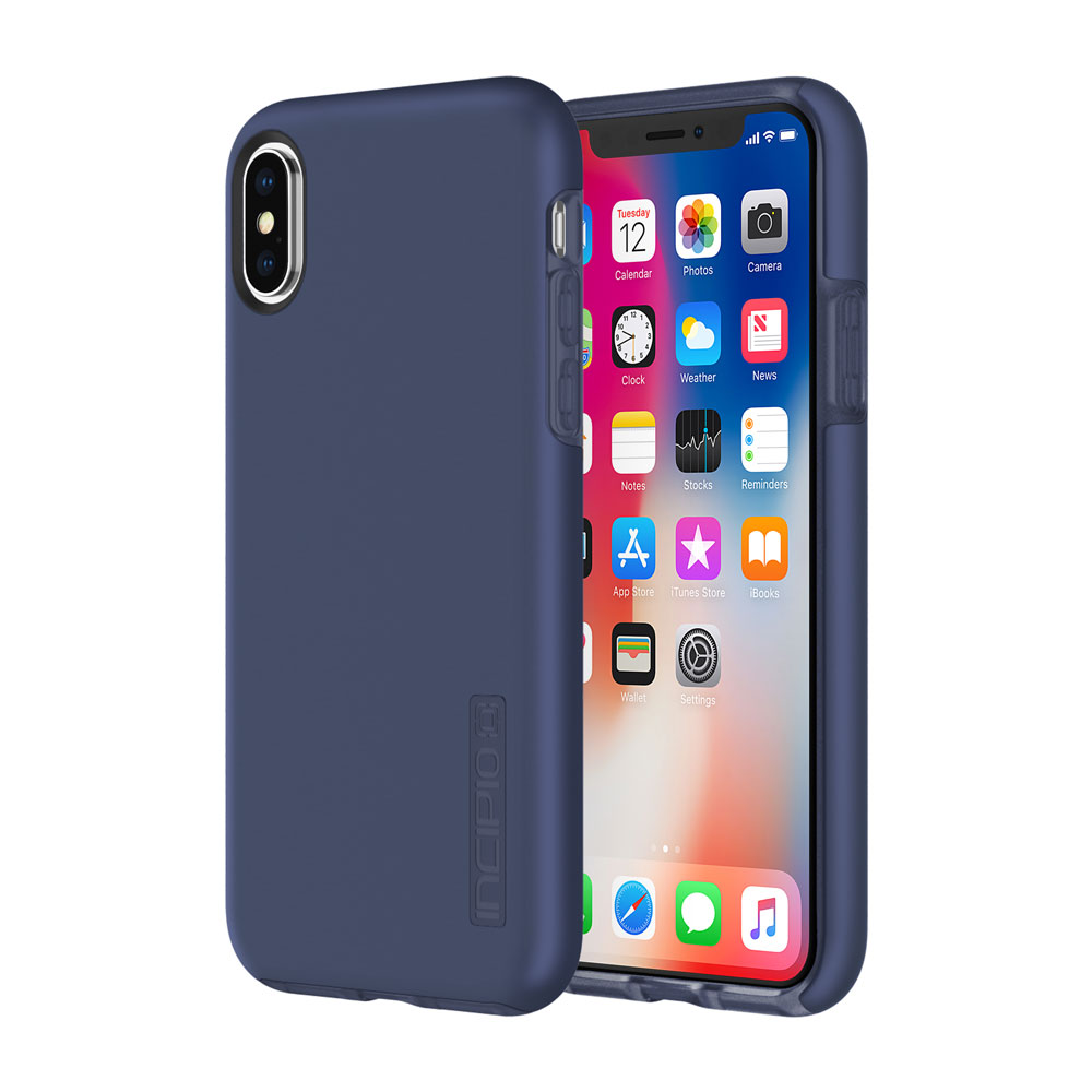Incipio DualPro iPhone X Case with Shock-Absorbing Inner Core & Protective Outer Shell for iPhone X - by INCIPIO