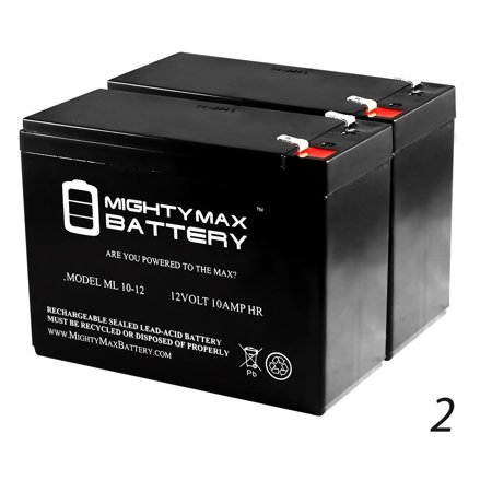 NEW 12V 10Ah Wheelchair Medical Mobility Battery - 2 Pack