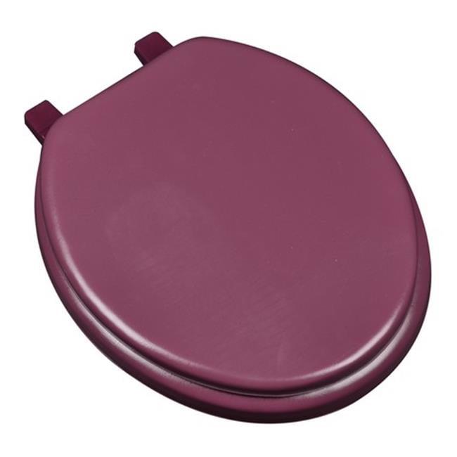 Plumbing Technologies 6F1R1-26 Deluxe Soft Round Toilet Seat, Maroon