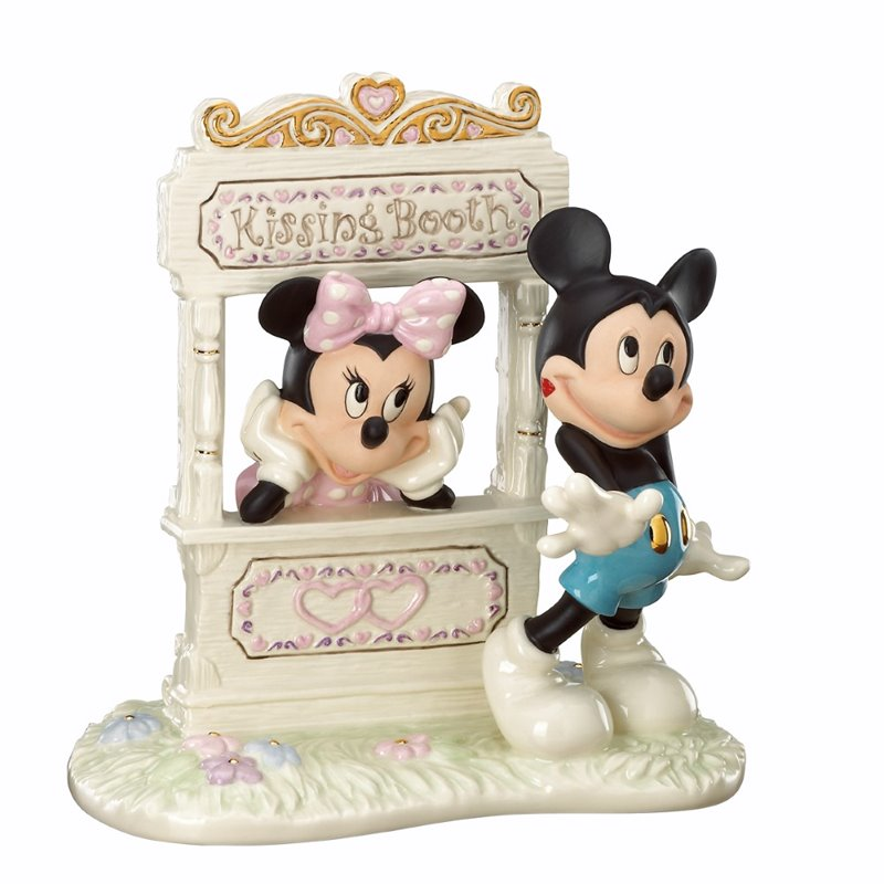 Lenox Ivory Fine China Kisses For Mickey Figurine with Gold Accents
