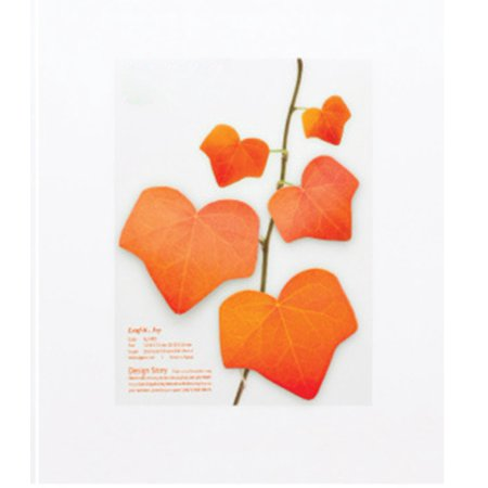 Thinkmax Office Environmental Realistic Leaves Sticky Note Message Posted