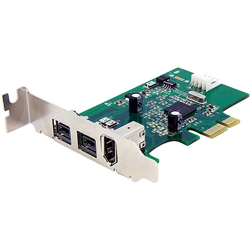Startech 3 Port Low Profile 1394 PCI Express FireWire Card Adapter