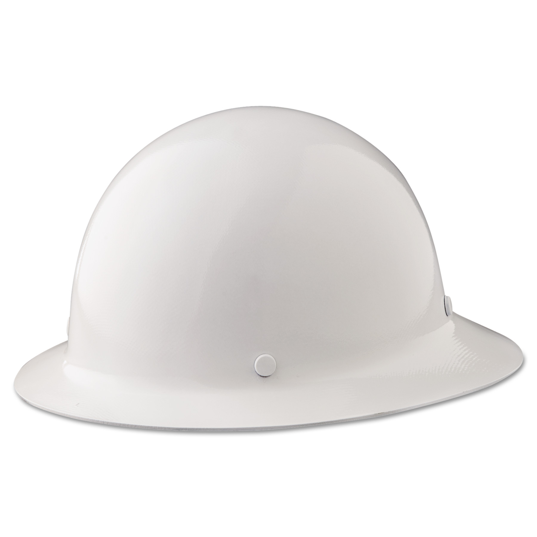MSA Skullgard Protective Hard Hats, Ratchet Suspension, Size 6 1 2 8, White by SAFETY WORKS
