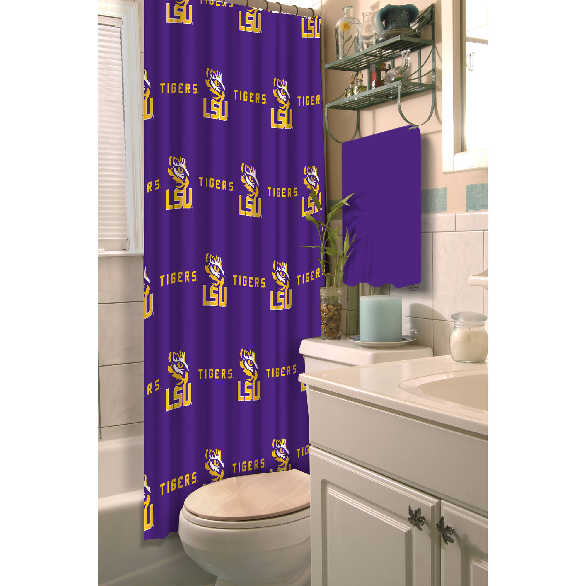 NCAA LSU Shower Curtain, 1 Each