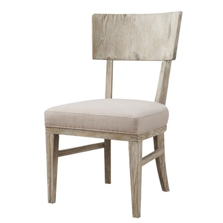 Emerald Home Synchrony Side Chair Wood Back W Upholstered Seat Pearl D112 20