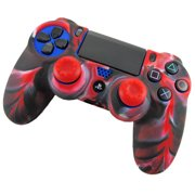 matoen Soft Camouflage Silicone Case Cover For Playstation PS4 Controller RD