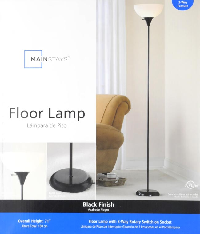 Combo floor lamp 71 light office modern home room decor black combo floor lamp 71 light office modern home room decor aloadofball Gallery