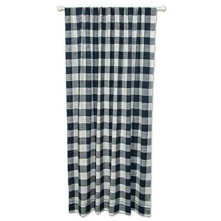 Heritage Lace Buffalo Check Single Curtain Panel Walmart Com