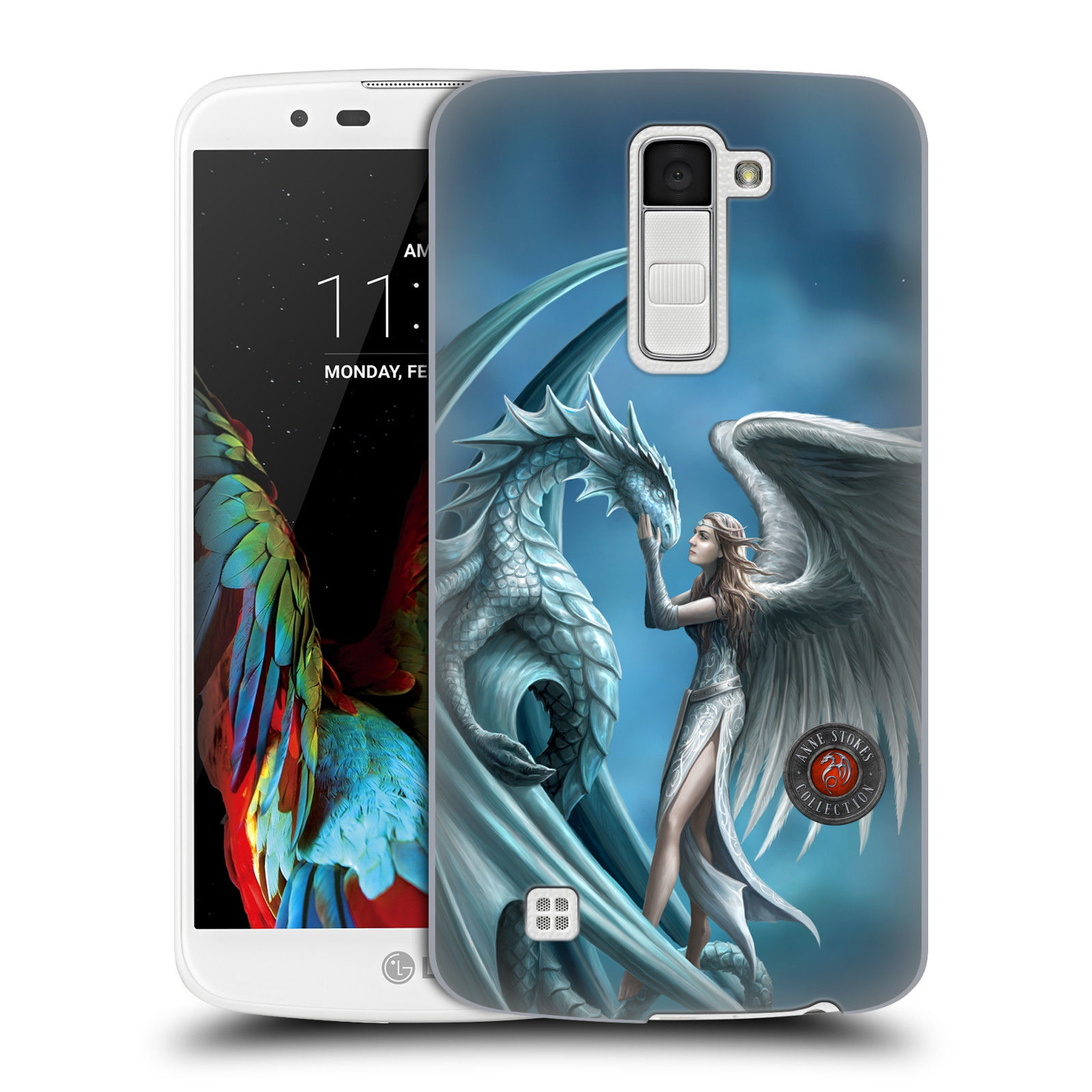 OFFICIAL ANNE STOKES DRAGON FRIENDSHIP HARD BACK CASE FOR LG PHONES 3