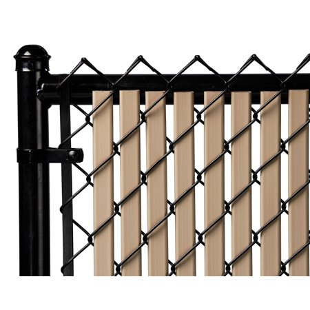 Image of Beige 4ft Tube Slat for Chain Link Fence
