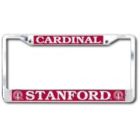 Stanford Cardinal Polished Chrome License Plate Frame - SILVER