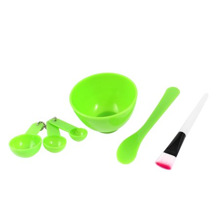Measuring Stick (Green Mixing Bowl Brush Stick Measuring Spoon Cosmetic DIY Tool Set 4 in)