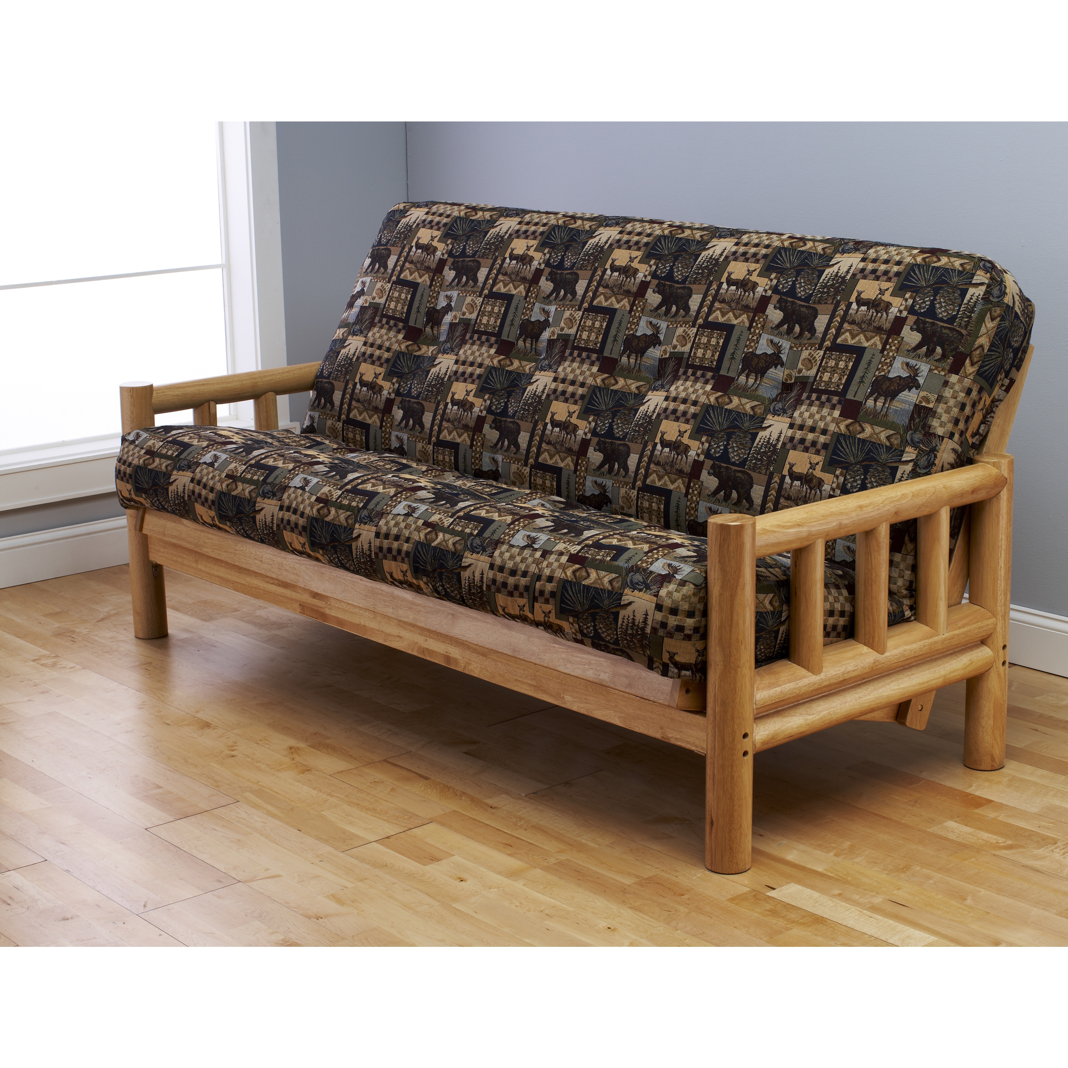Somette  Lodge Full-Size Futon Set with Peter's Cabin Mat...