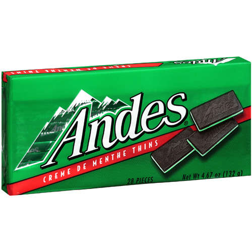 Andes Candy Creme De Menthe Thins, 4.67 oz