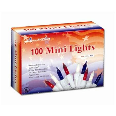 Penn Distributing 100 Light Patriotic Mini - Patriotic Lights Decorations