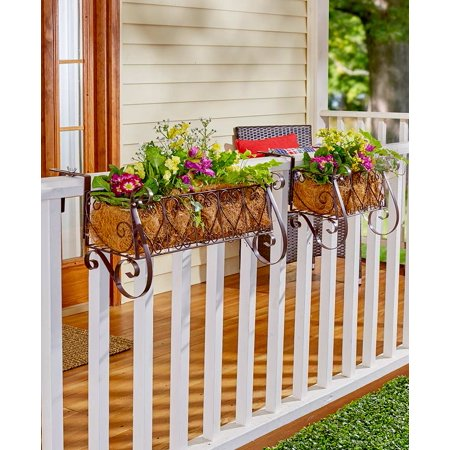Decorative Rail or Fence Planter Small ()
