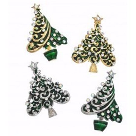 Howards Jewelry 154100 Christmas Tree Pin - Assorted Color ()