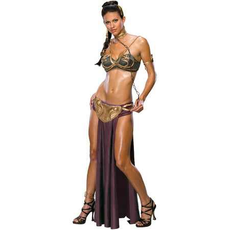 Princess Leia Slave Adult Halloween Costume (Halloween Costumes Princess Peach Mario)