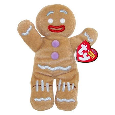 TY Beanie Baby - GINGY the Gingerbread Man (Shrek the Halls DVD Exclusive)