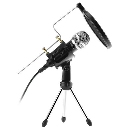 Professional Condenser Microphone Set 3.5mm Cable Plug Play Home Studio microphones, dual-layer acoustic filter, for Iphone Ipad Samsung Android Windows Smartphones