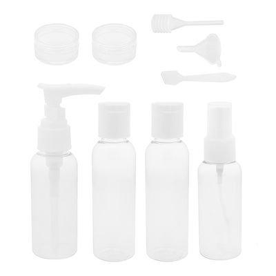 AkoaDa Travel Size Toiletry Bottles Set, TSA Approved Clear Cosmetic Makeup Liquid