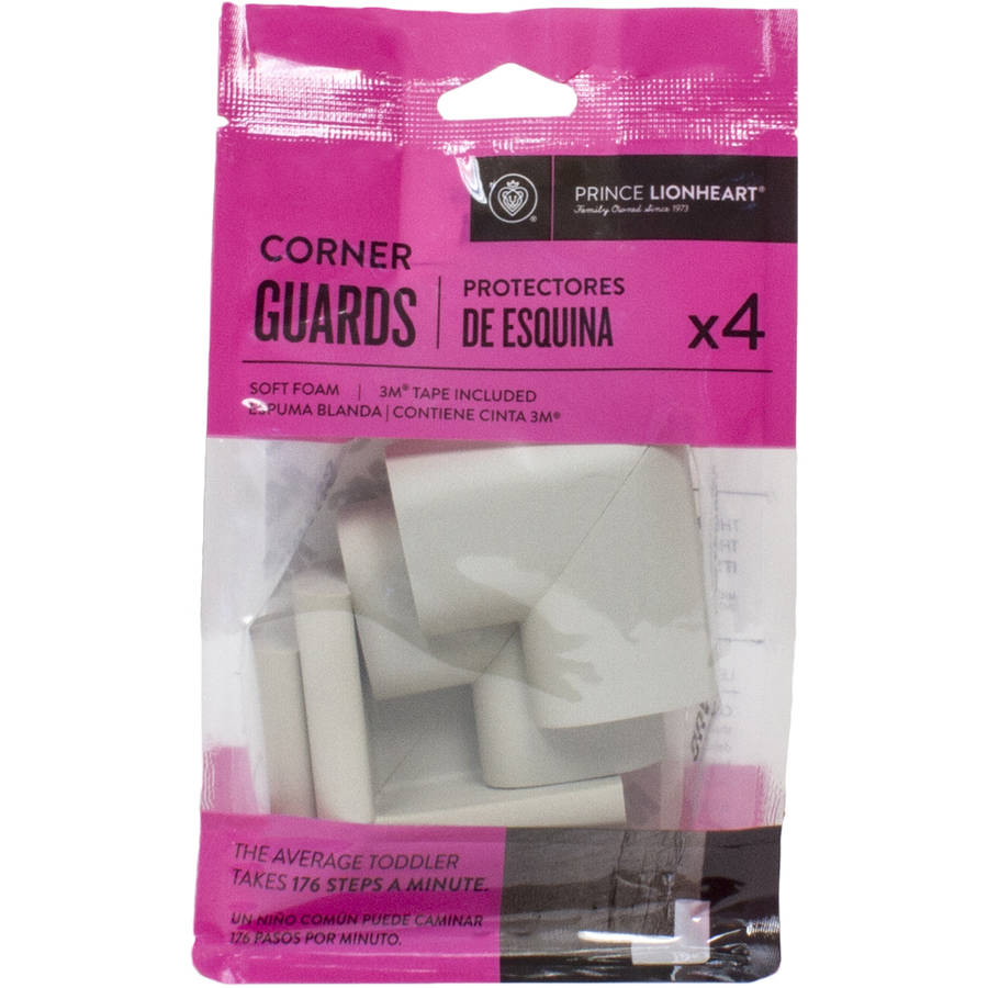 Prince Lionheart Foam cornerGUARDS, Pack of 4, Grey