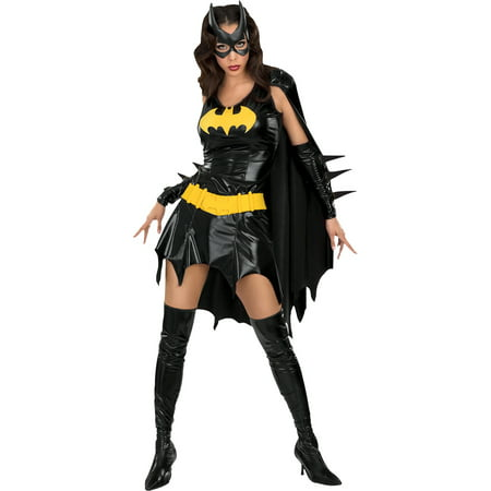 Batgirl Adult Halloween Costume - One - Batgirl Makeup Halloween