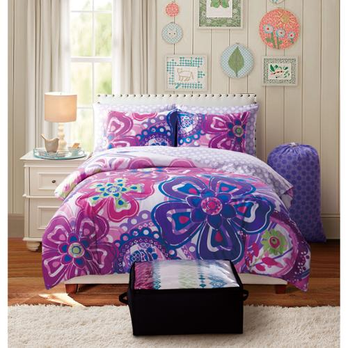 VCNY Kimberly 9-piece Floral Reversible Bed in a Bag Set Twin XL 7 Piece Set