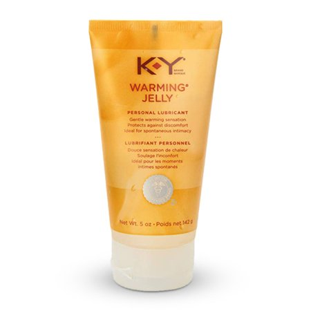 Jelly Personal Lubricant (K-Y Warming Jelly Personal Lubricant, Non-Greasy and Condom-Compatible - 5 oz)